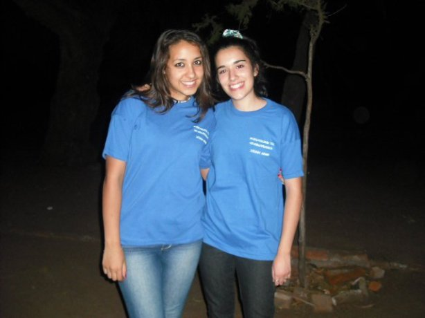 Antonella and Dulce at Camp